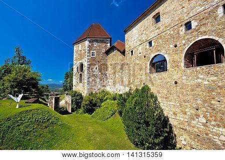 City of Ljubljana historic citadel capital of Slovenia