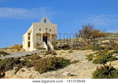 St Anne's Chapel, Dwejra, on the Island of Gozo, Malta
