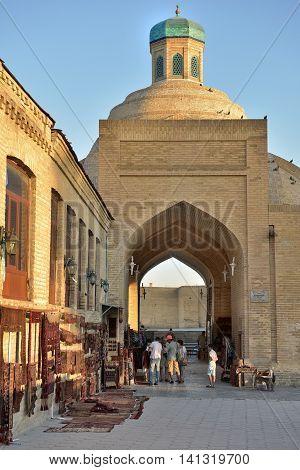 Bukhara Uzbekistan - August 05 2015: Old souks to the majestic streets of Bukhara in Uzbekistan.