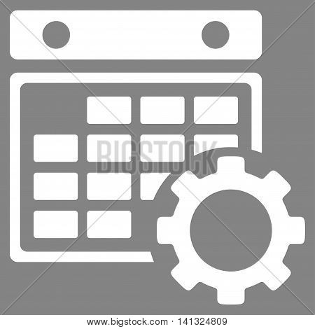 Organizer Setup vector icon. Style is flat symbol, white color, rounded angles, gray background.
