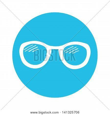 Summer icon. Sun glasses. Hand drawn sun glasses. Vector illustration.