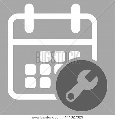 Plan Preferences vector icon. Style is bicolor flat symbol, dark gray and white colors, rounded angles, silver background.
