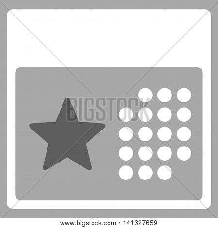 Holiday Syllabus vector icon. Style is bicolor flat symbol, dark gray and white colors, rounded angles, silver background.