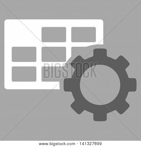 Schedule Adjustment vector icon. Style is bicolor flat symbol, dark gray and white colors, rounded angles, silver background.