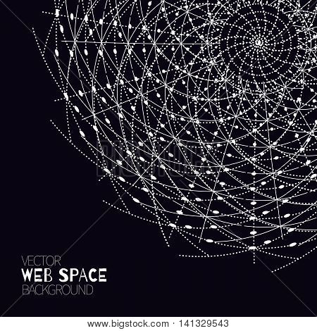 Abstract futuristic cyberspace with mesh.Space background for business, web design, print or presentation.