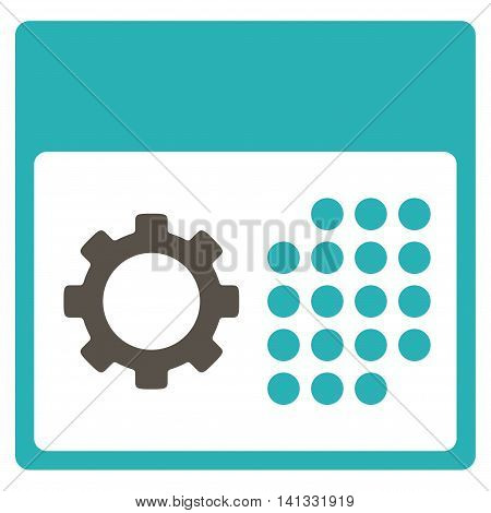 Service Appointment vector icon. Style is bicolor flat symbol, grey and cyan colors, rounded angles, white background.