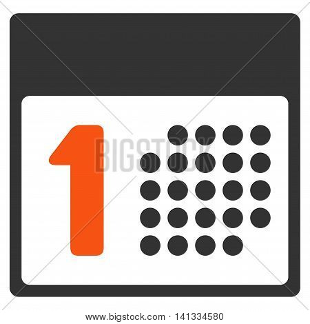 First Date vector icon. Style is bicolor flat symbol, orange and gray colors, rounded angles, white background.