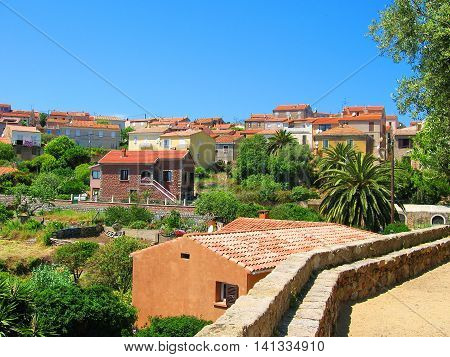 Old Tiled Roofs of Beautiful Cargèse, Corse