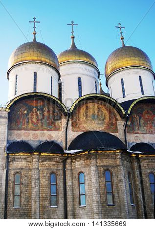 Assumption church. Moscow Kremlin. UNESCO World Heritage Site.