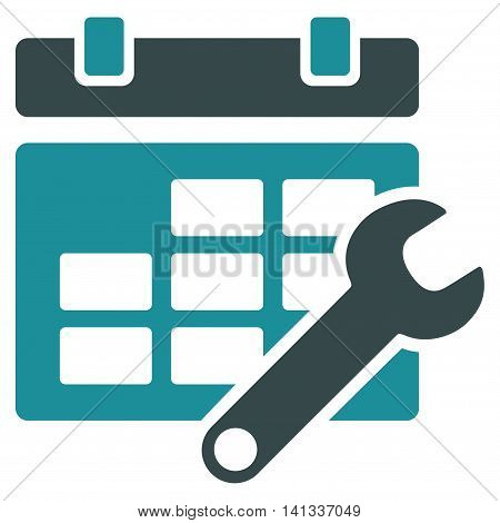 Timetable Configuration vector icon. Style is bicolor flat symbol, soft blue colors, rounded angles, white background.
