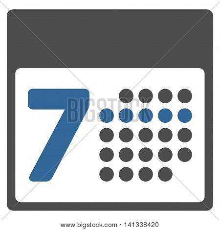 Binder Week vector icon. Style is bicolor flat symbol, cobalt and gray colors, rounded angles, white background.