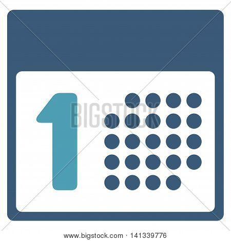 First Date vector icon. Style is bicolor flat symbol, cyan and blue colors, rounded angles, white background.