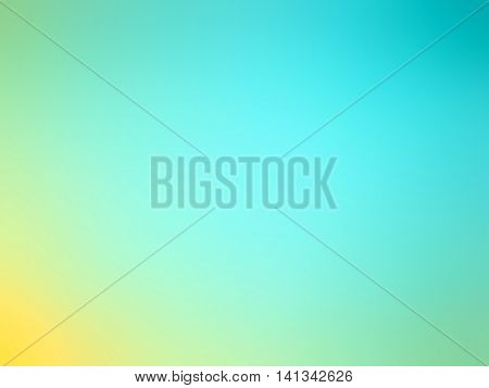 Abstract Gradient Yellow Teal Blue Colored Blurred Background