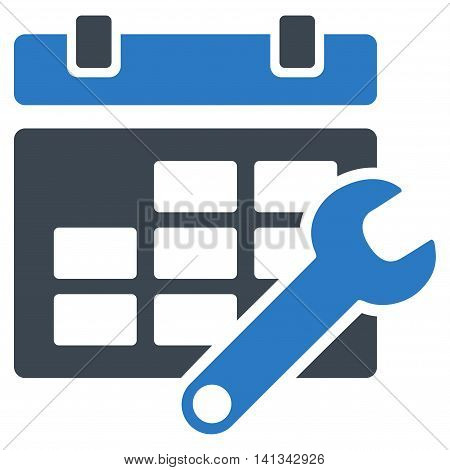 Timetable Tools vector icon. Style is bicolor flat symbol, smooth blue colors, rounded angles, white background.