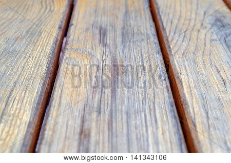 Vintage Wooden Planks Background. Top View of Wooden Table. Wood Texture with Text or Image Space