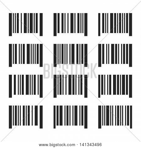 Bar Codes Set on White Background. Vector illustration