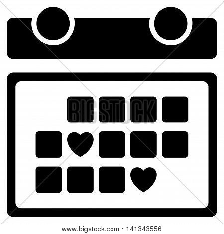 Favourite Days vector icon. Style is flat symbol, black color, rounded angles, white background.