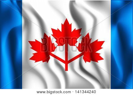 The Canadian Pearson Pennant. Rectangular Shape Icon With Wavy E