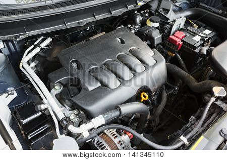 Modern Suv Car Undersquare Engine