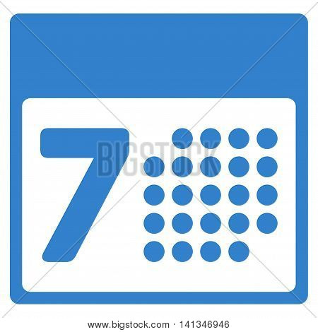 Organizer Week vector icon. Style is flat symbol, cobalt color, rounded angles, white background.