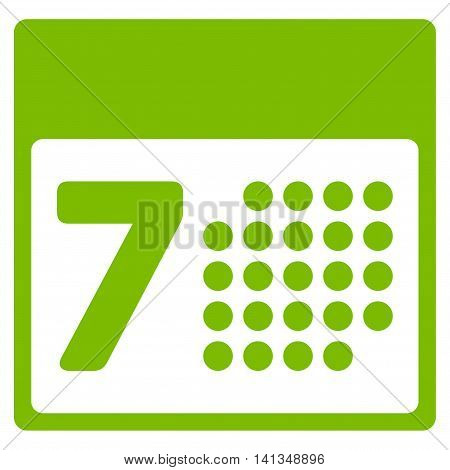 Appointment Week vector icon. Style is flat symbol, eco green color, rounded angles, white background.