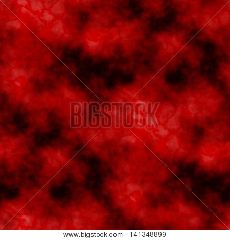 Marble tie-dye red and black clouds background