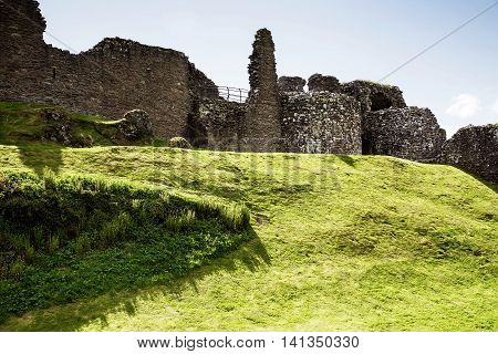 Ruins Of The Urquhart Castle At Loch Ness Scotland