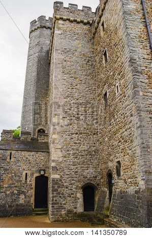 Tower In Cardiff Castle In Cardiff In Wales