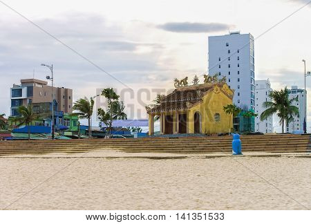 Vietnamese Building Architecture At China Beach In Danang In Vietnam