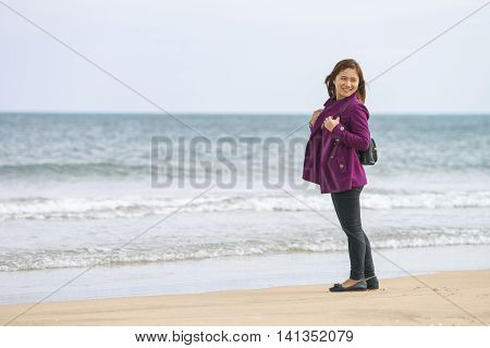 Young Girl At The China Beach In Danang In Vietnam