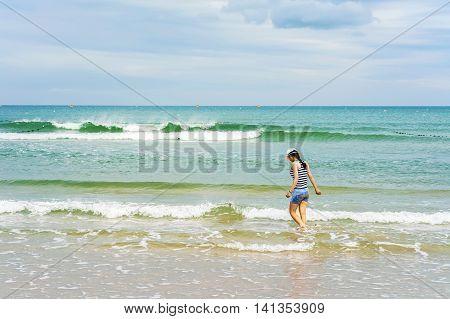 Young Girl At The China Beach Danang Vietnam