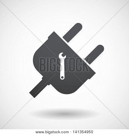 Isolated Male Plug With A Spanner