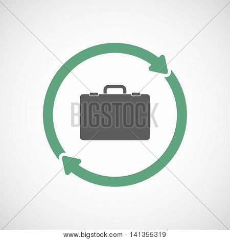 Isolated Reuse Icon With  A Briefcase