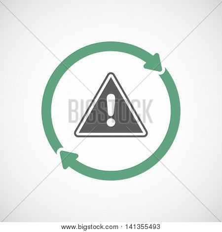 Isolated Reuse Icon With A Warning Signal
