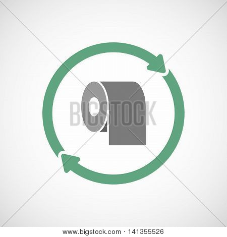 Isolated Reuse Icon With A Toilet Paper Roll