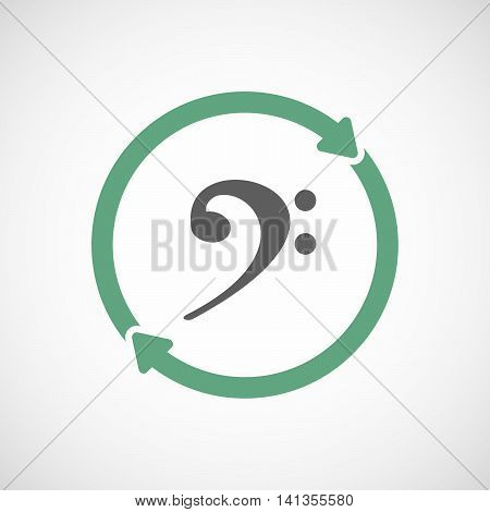 Isolated Reuse Icon With An F Clef
