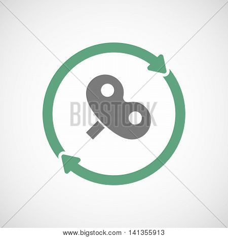 Isolated Reuse Icon With A Toy Crank
