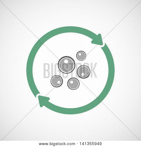 Isolated Reuse Icon With Oocytes