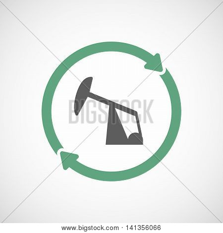 Isolated Reuse Icon With A Horsehead Pump
