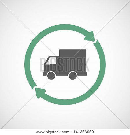 Isolated Reuse Icon With A  Delivery Truck