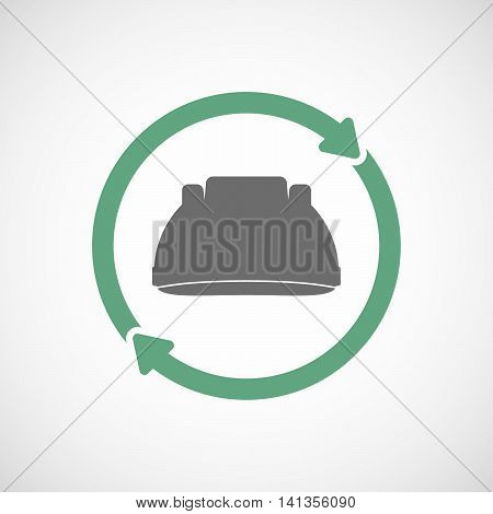 Isolated Reuse Icon With A Work Helmet