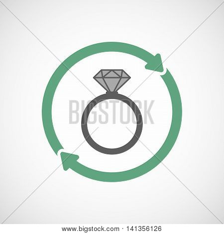 Isolated Reuse Icon With An Engagement Ring