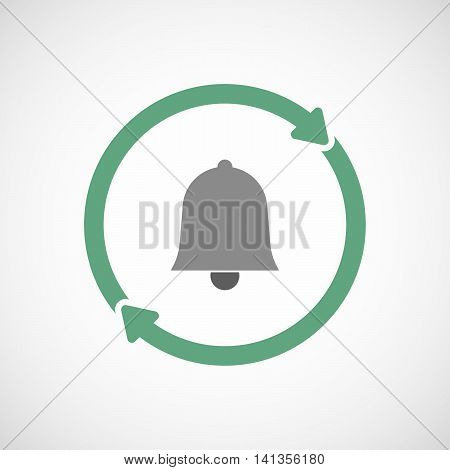 Isolated Reuse Icon With A Bell