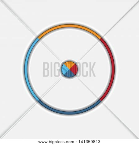Template Infographic Four position Area chart Ring chart Pie chart