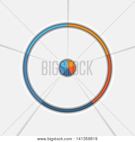 Template Infographic Five position Area chart Ring chart Pie chart