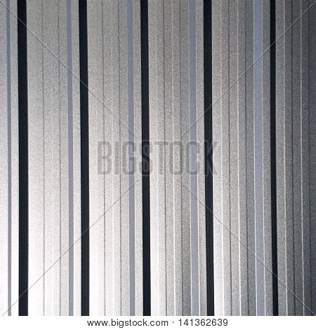 stainless steel wall of the factory plant.