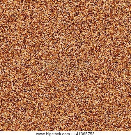 Coffee color grain texture. Chocolate shades. Brown particles. Vector illustrationeps 10.