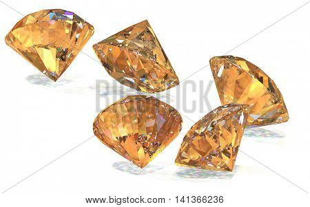 Great diamonds 3d rendering