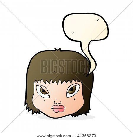 cartoon annoyed face with speech bubble