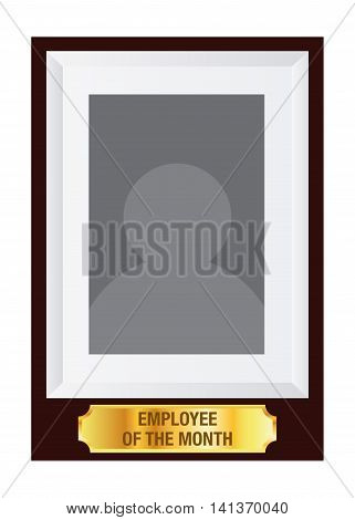 Vector stock of employee of the month award photo frame template